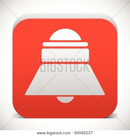 Red bell siren icon. Notification alarm. vector poster