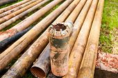 tungsten core bit and drilling pipe used in the mining industry and Coal Seam Gas drilling poster