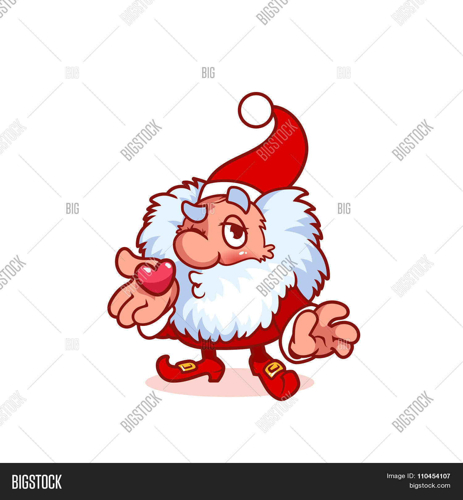 Christmas Gnomes Clipart.Christmas Gnome Blows Vector Photo Free Trial Bigstock