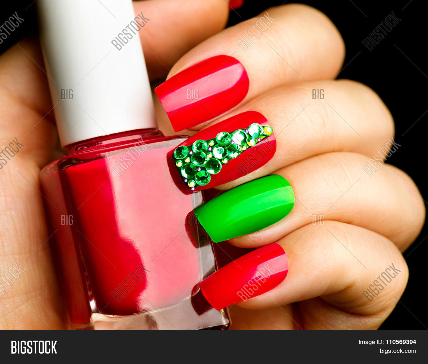 Christmas Nail Art Image & Photo (Free Trial) | Bigstock