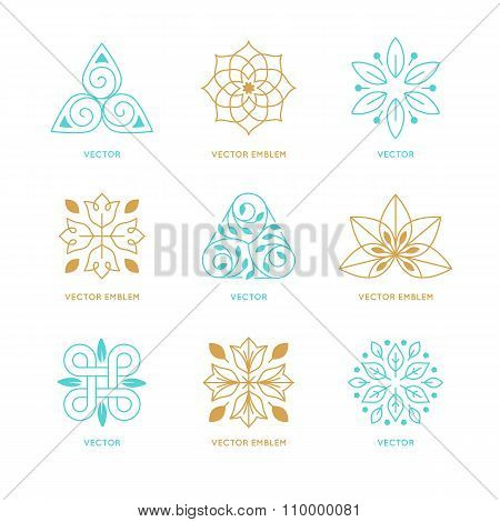 Vector Set Of Logo Design Templates And Symbols