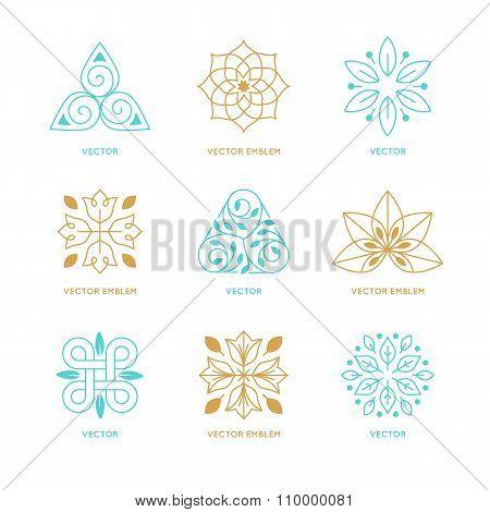 Vector Set Of Logo Design Templates And Symbols