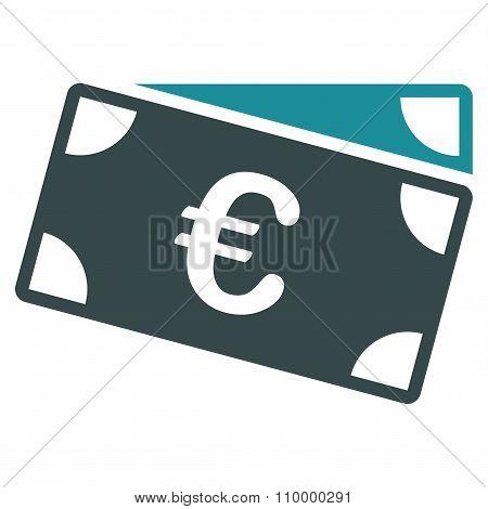 Euro Banknotes Icon