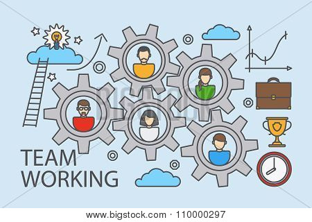 Teamwork and collaboration business concept