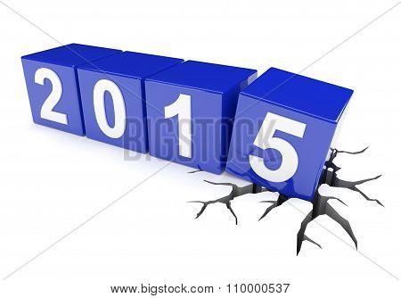 Cracked Ground Under 2015 Cubes