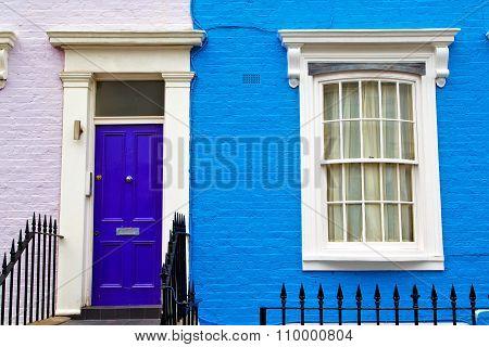 Notting Hill In London   Suburban     Wall Door