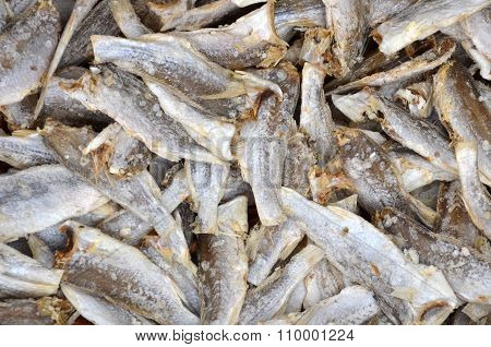 Dried Salted Fishs On Market