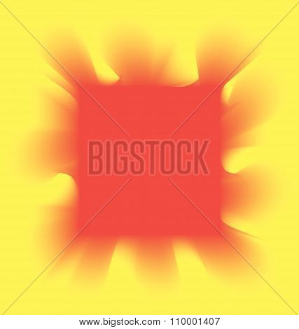 red smoke square on a yellow background