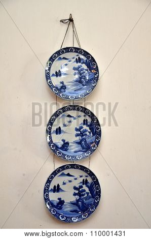 Three Nice Pottery Plate