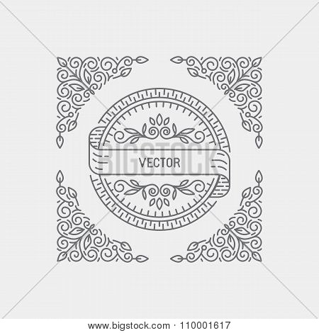 Vector Abstract Monogram Template