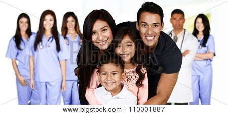 Family who are at the hospital waiting for care