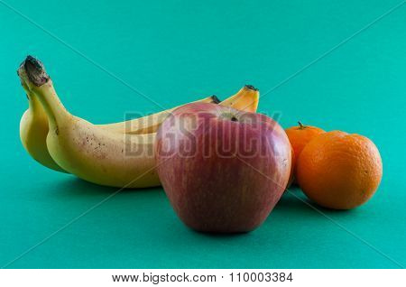 Banana, Apple And Tangerine