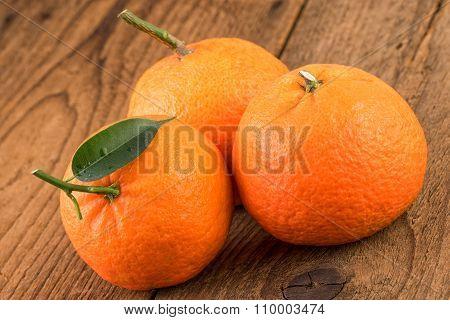 Mandarines Closeup