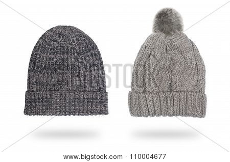 male and female woolen hats