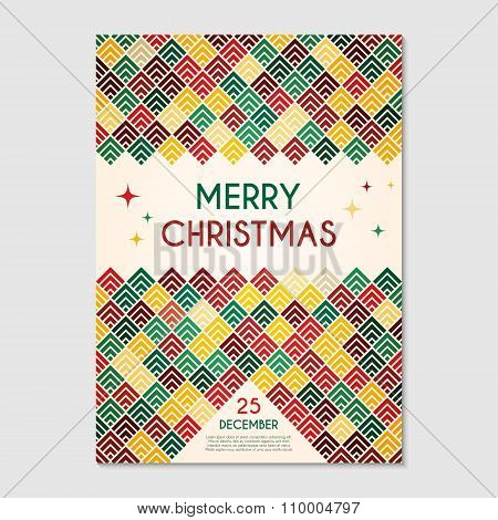 Christmas Poster Geometric Template