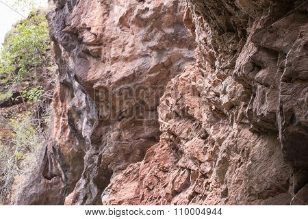 Cliff In Forest, Thailand Asia