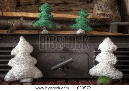 Xmas Decorations Crafts Snowman Fireplace Tree