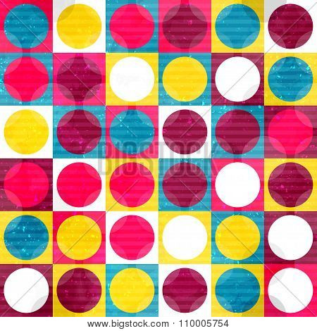 Bright Colored Circle Seamless Pattern