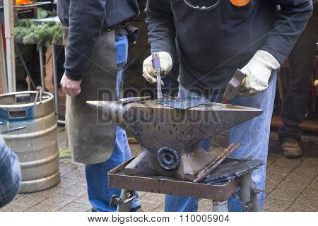 Blacksmith with anvil