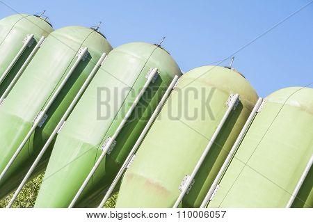 Agricultural Green Silos.