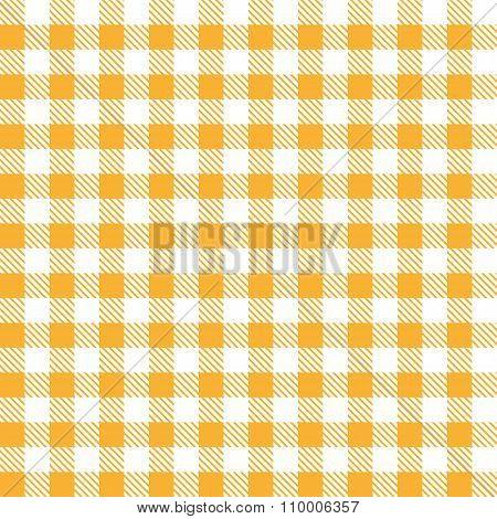 Orange Table Cloth Squares Stylish Background Design