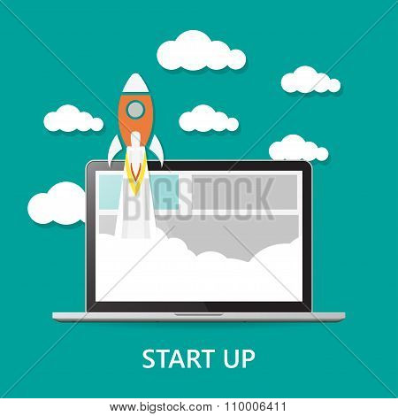 Start Up With Notebook And Cloud Shadow