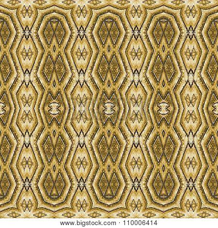 Tribal Golden Seamless Pattern