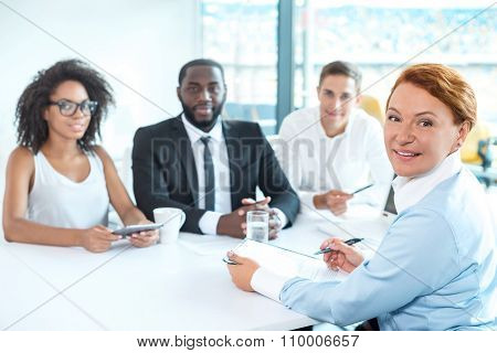 Concept for multi ethnic business team