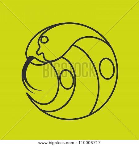 Cobra Snake Head Logo. Line Art Style.