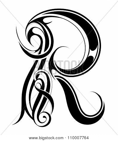 Letter r gothic style vector photo free trial bigstock letter r gothic style altavistaventures Image collections