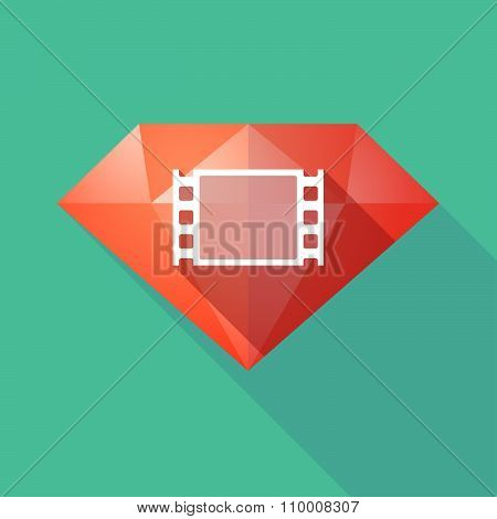 Long Shadow Diamond Icon With A Film Photogram