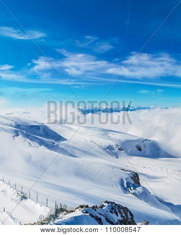 Alps Mountain  In Switzerland