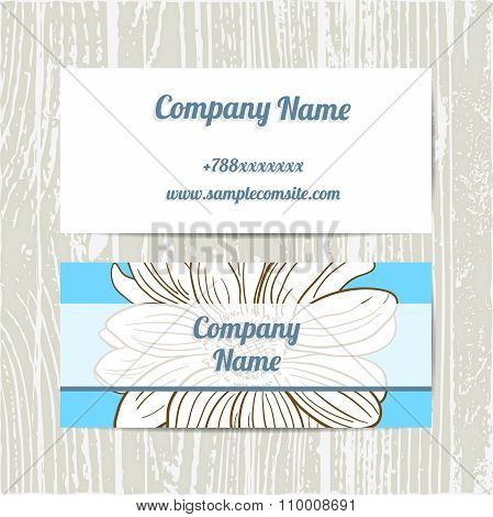 Hand Drawn Camomiles Business Cards