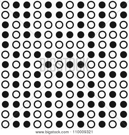 Monochrome Circle Seamless Pattern