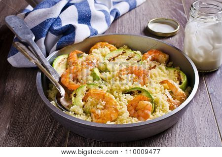 Couscous With Vegetables And Shrimp