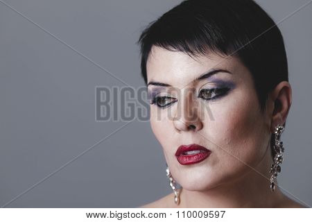 rich, Sensual gesture girl dressed in the style of 20s and 30s