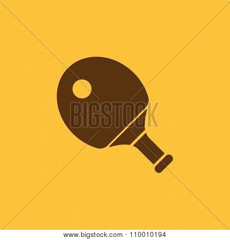 The tennis icon. Ping pong symbol. Flat