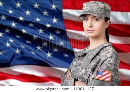 Female us army soldier clothing adult freedom