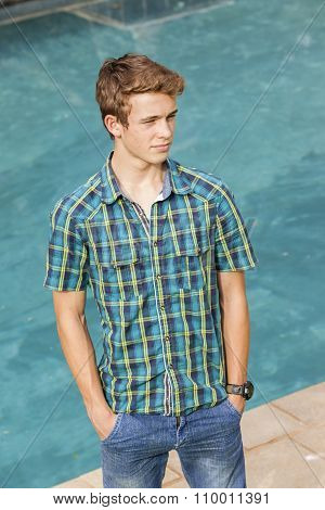 Boy Teen Casual Pool