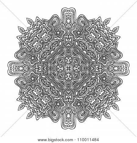 Monochrome Hand Drawn Decorative Element Illustration.