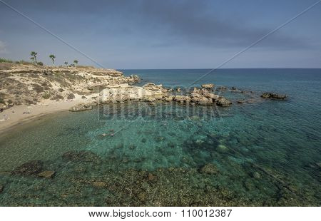 Sea Caves,cape Greko. Mediterranean Sea,cyprus
