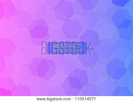 Abstract background with polygons