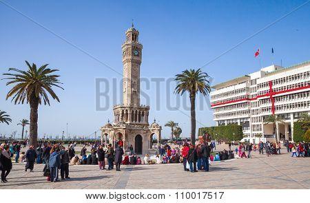 Turkey, Clock Tower, Symbol Of Izmir City