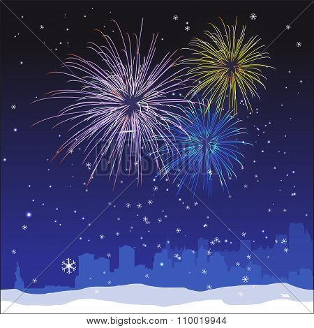 Vector Christmas New York Background