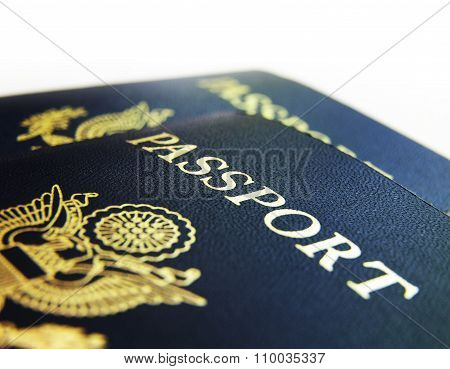 US Passports Closeup