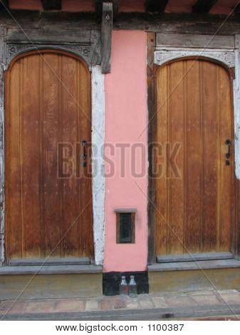 Twin Wooden Doors