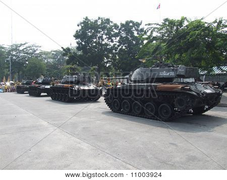 Thai military tanks, Bangkok, Thailand.
