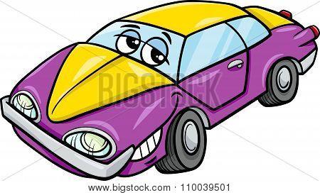 Car Character Cartoon Illustration