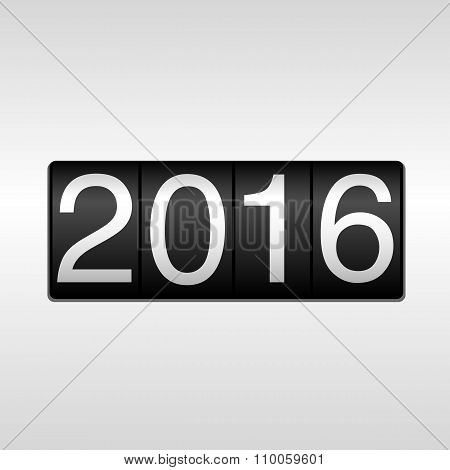 2016 New Year Odometer - White