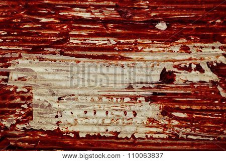 The Texture Of Old Cardboard With Bloodstain